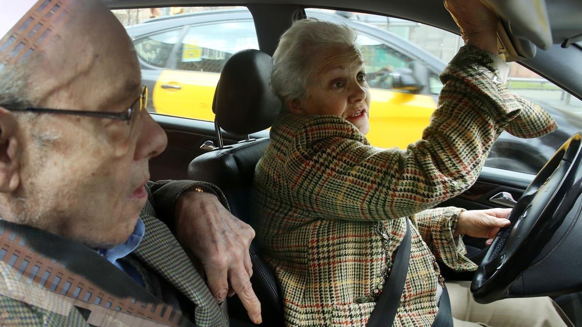 Fèlix Millet con su esposa, Marta Vallès.