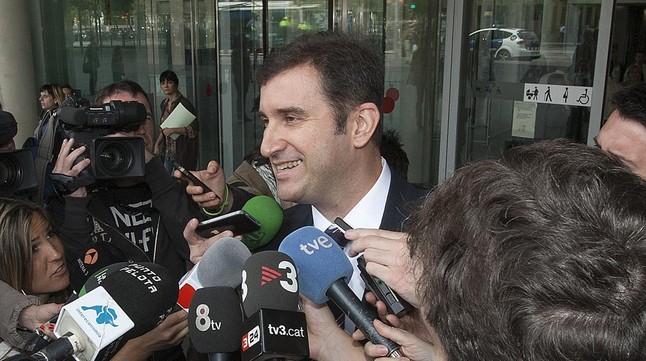 Ferran Soriano sale de declarar de la Ciutat de la Justícia, en mayo del 2013.