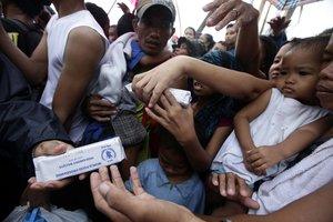 La situación es especialmente grave en el área metropolitana de Manila, capital muy densamente poblada con 13 millones de habitantes.