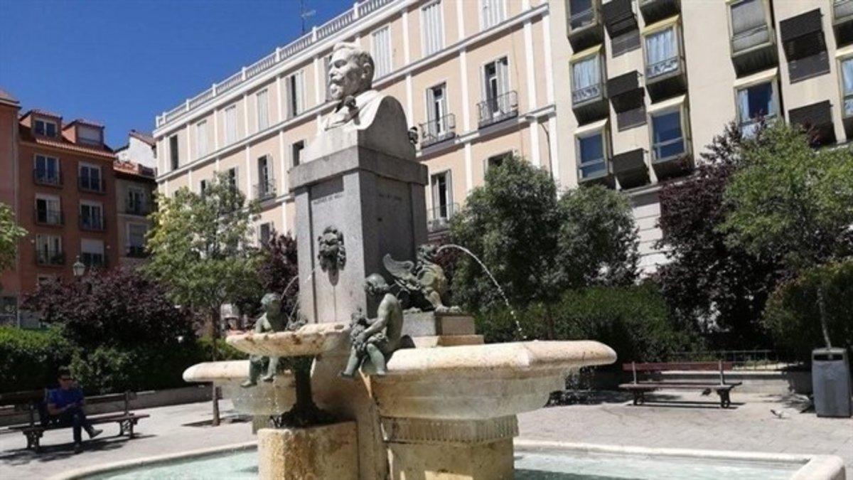 La plaza de Pedro Zerolo, que se encuentra en el barrio madrileño deChueca.