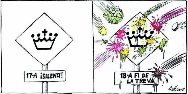 L'humor gràfic d'Anthony Garner del 18 d'Agost del 2018