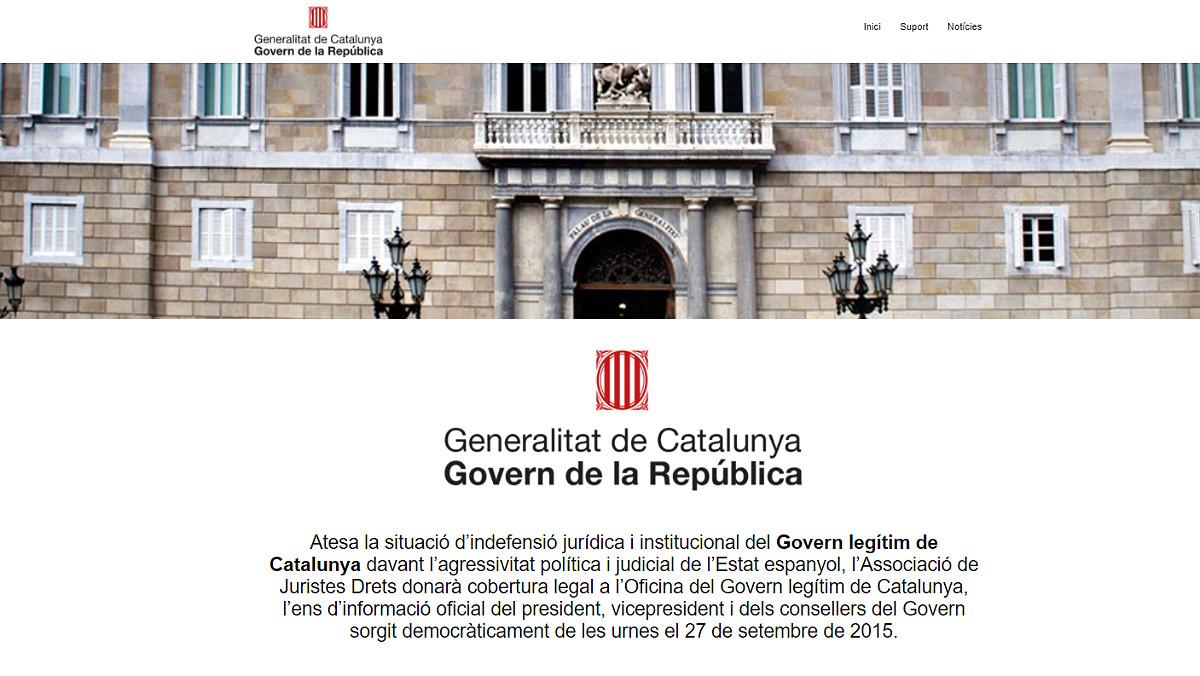"Puigdemont 'inaugura' la web del ""Govern de la República"""