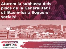 ICV-EUiA i En Comú Podem denuncien la venda de pisos sense hereus a Santa Coloma