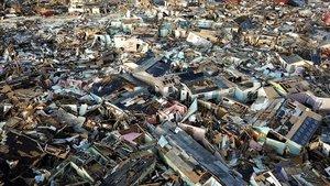 Imagen de la devastación producida por el Dorian en la isla de Gran Abaco, en las Bahamas.