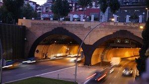 Imagen del túnel de la Rovira, esta tarde