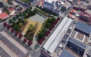 Imágenes virtuales del nuevo espacio verde de El Gall