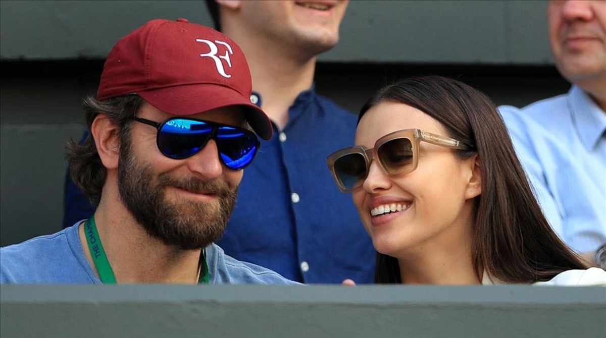Irina Shayk y Bradley Cooper, en Wimbledon.