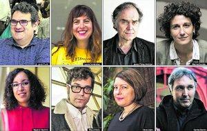 Jordi Puntí, Laura Fernández, Javier Pérez Andújar, Marina Garcés, Najat El Hachmi, Miqui Otero, Clara Usón y Carlos Zanón.