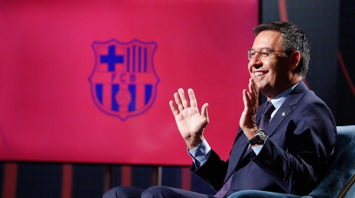 Josep Maria Bartomeu, en una recienteentrevista en Barça TV.
