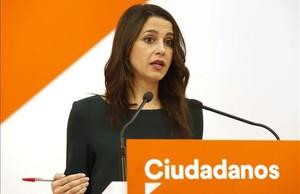 La portavoz de Ciudadanos y líder del partido en Catalunya, Inés Arrimadas.
