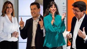 Andalucía arranca unas elecciones que se vislumbran sin cambio