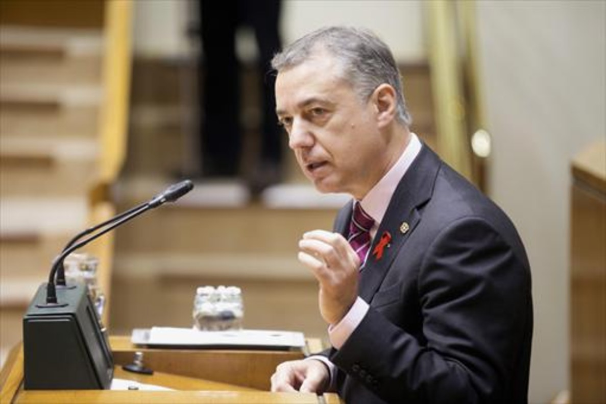 El lendakari, Íñigo Urkullu, el pasado diciembre en el Parlamento vasco.
