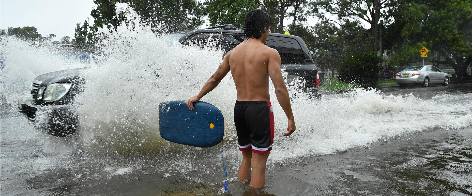 Lluvias torrenciales en Sídney