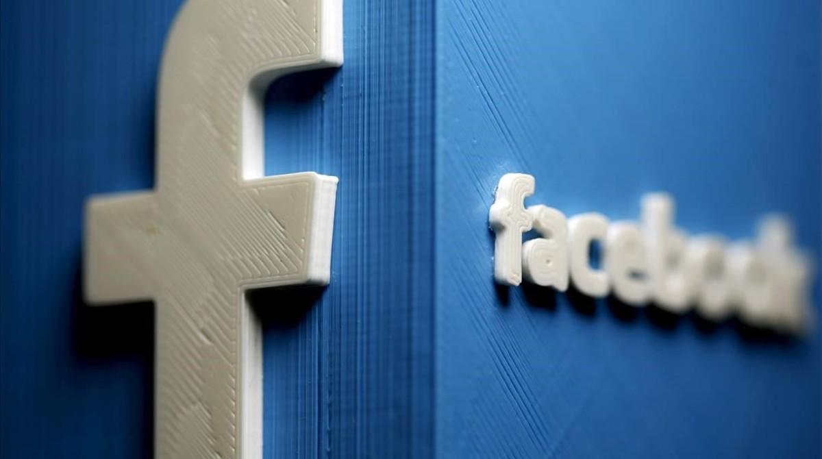 El logotipo de Facebook, en 3D.