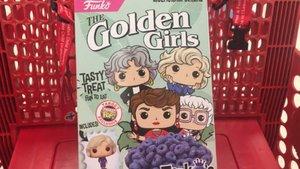 Los cereales de Las chicas de oro con los dibujos de Funko.
