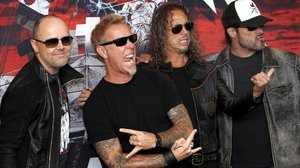 Los componentes de Metallica: Lars Ullrich, James Hetfield, Kirk Hammet y Robert Trujillo.