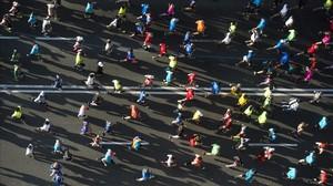 Participantes en un maratón.