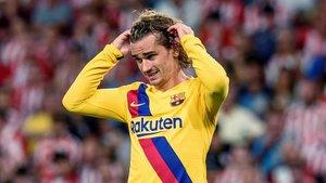 Incòmode Griezmann en la seva pobra estrena amb el Barça