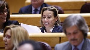 Marta Domínguez, en el senado.