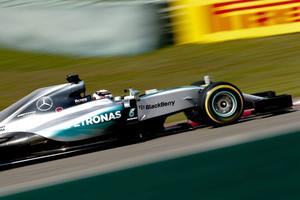 El Mercedes de Lewis Hamilton en el Gran Premio de China.