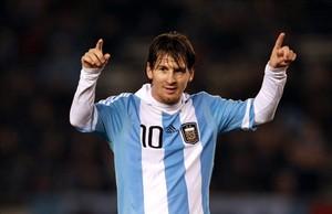 Leo Messi, enfundado en la camiseta de la selección argentina.