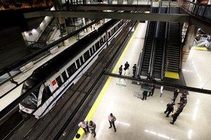 Estación de Metro de Nuevos Ministerios, en Madrid.