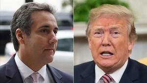 Michael Cohen (izquierda) y Donald Trump (derecha).