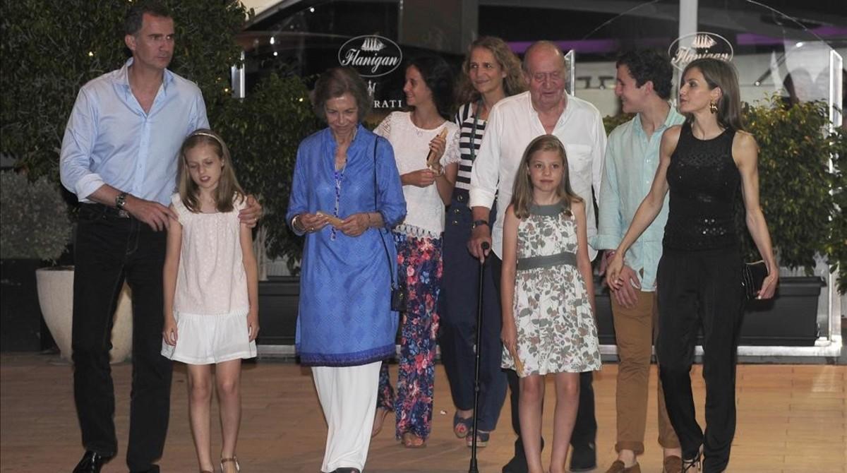 La família reial es reuneix a Mallorca