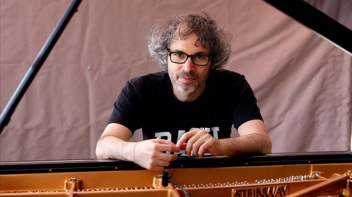 El músico James Rhodes durante un ensayo en Madrid, el pasado mes de julio.