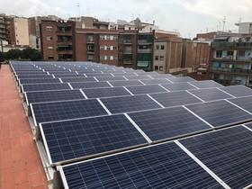 Nueva planta fotovoltaica de Badalona.