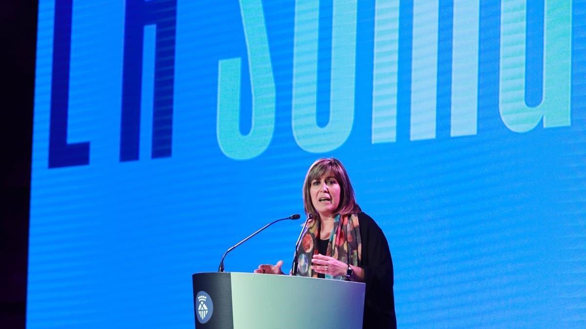 Núria Marín, en un momento de su conferencia.