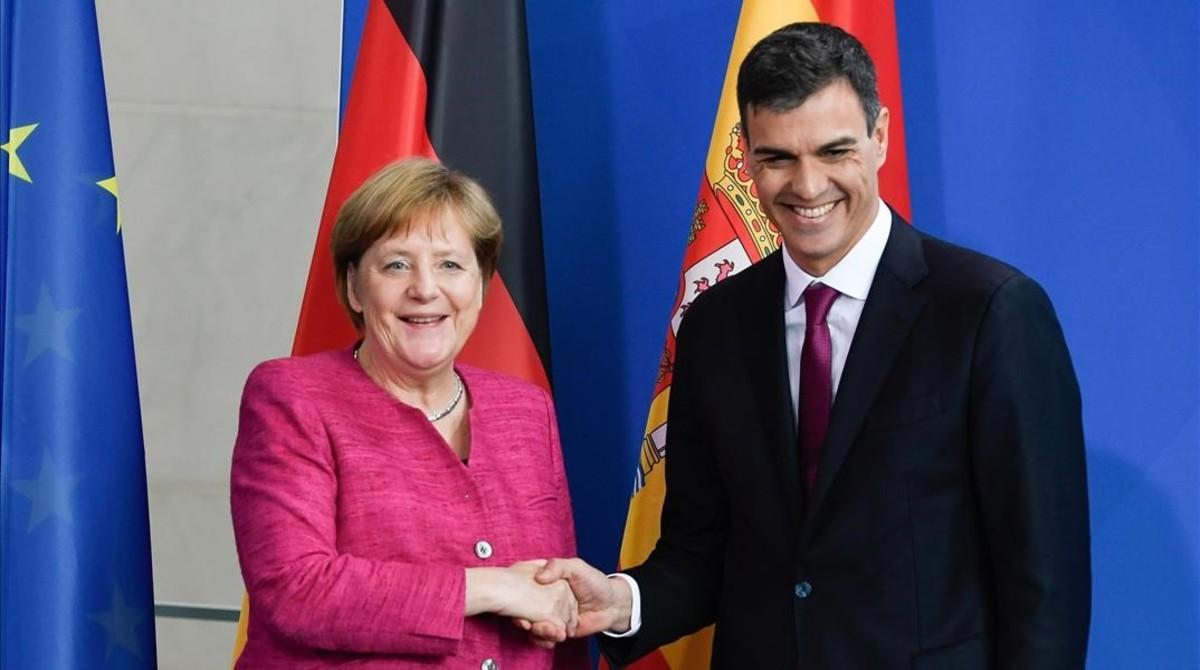 Sánchez y Merkel visitan el centro de cría del lince ibérico