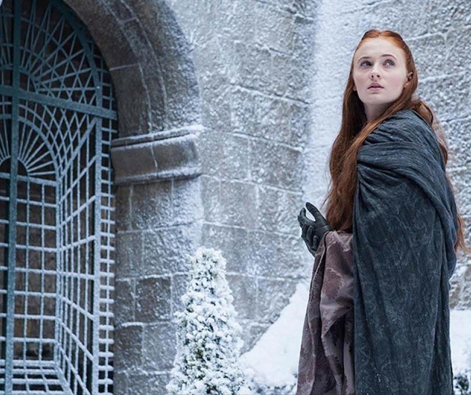 La actriz Sophie Turner encarna a Sansa Stark en Juegos de tronos.