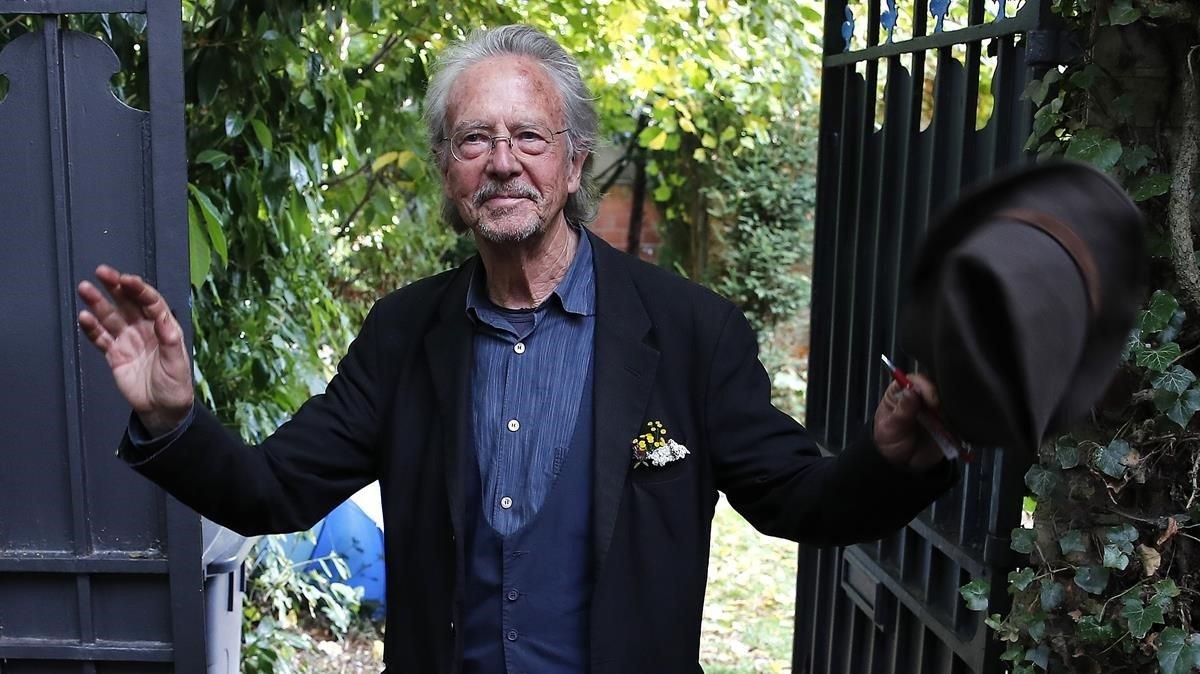 Peter Handke, en su casa de Francia, el pasado mes de octubre
