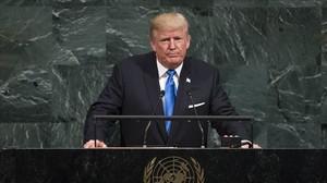 El presidente de EEUU, Donald Trump, se dirige a la Asamblea Generalde la ONU.