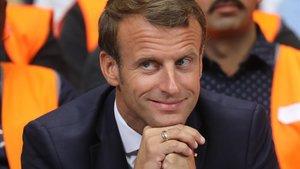 El presidente francés, Emmanuel Macron, en un acto el pasado 10 de septiembre.