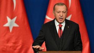El presidente turco, Recp Tayyip Erdogan, durante una comparecencia el pasado 7 de noviembre.