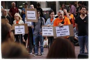 Protesta contra los altos precios de los alquileres, el pasado mayo, en la avenida de Mistral.
