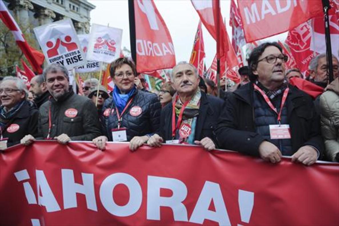 Manifestación para pedir subidas salariales para los funcionarios.