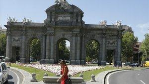 La Puerta de Alcalá de la ciudad de Madrid.
