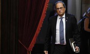 Quim Torra en el debate de política general del pasado mes de Septiembre en el Parlament