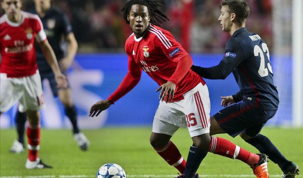 Renato Sanches, durante un encuentro con el Benfica