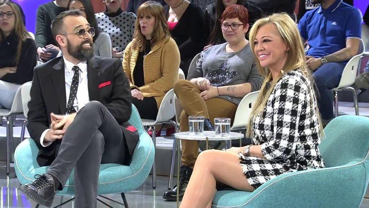 Risto Mejide y Belén Esteban en 'Todo es mentira'.