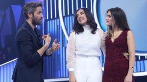 Roberto Leal junto a Marta y Sabela en OT 2018.