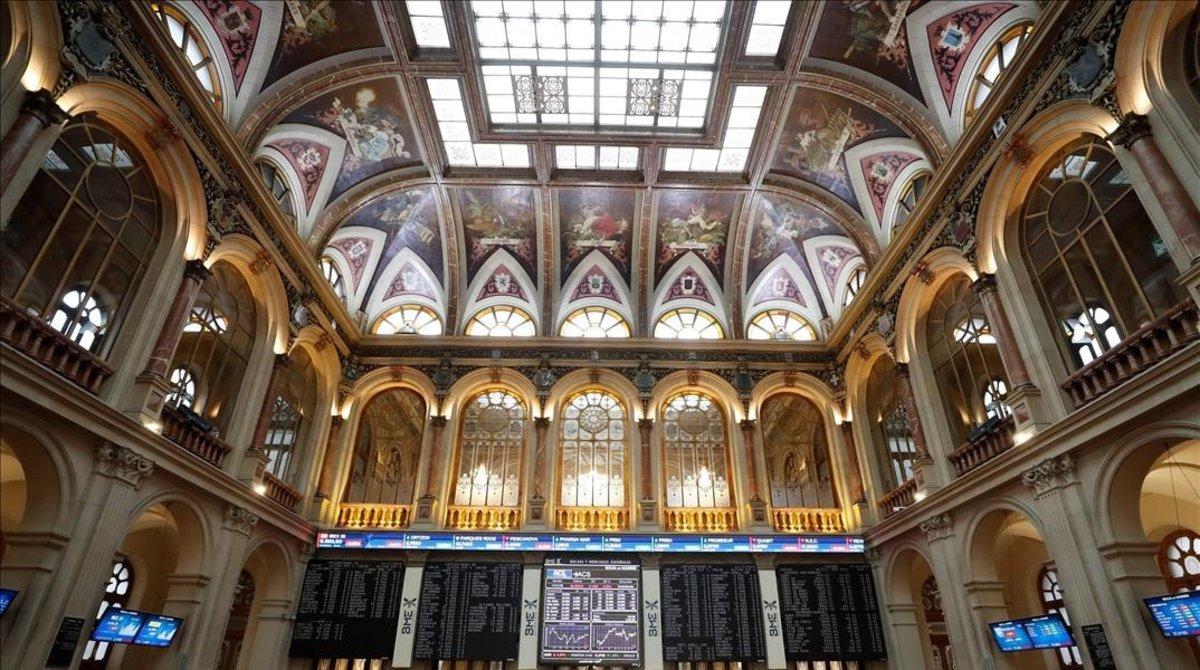 Imagen del parquet de la Bolsa de Madrid.