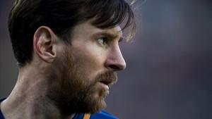 Messi, en el partido ante el Athletic.