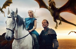 Escena de Juego de tronos, una de las series de mayor éxito de la tele de pago.
