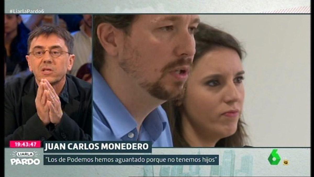 Juan Carlos Monedero, en Liarla Pardo (La Sexta).