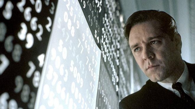 Una ment meravellosa, la millor pel·lícula del 2001, segons els Oscars, en què Russell Crowe va interpretar el matemàtic John Nash.