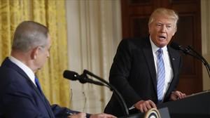 Trump y Netanyahu, en la Casa Blanca.